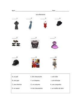 French Clothing Quiz