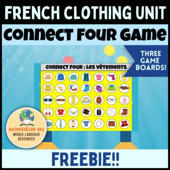 French Clothing Unit - Connect Four Game! [Les Vêtements]
