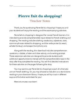 French Clothing Vocabulary: CI Story