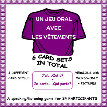 French Clothing Vocabulary Game - Le cercle magique