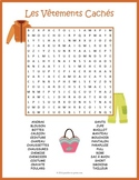 French Clothing Word Search: Les Vêtements