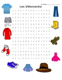 French Clothing Word Search