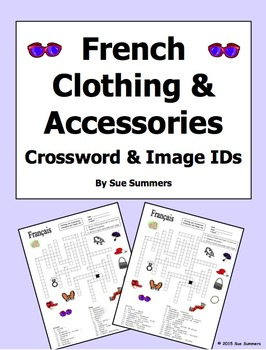 French Clothing and Accessories Crossword Puzzle, Image IDs, and Vocabulary