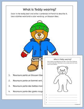 French Clothing and Colors - Les vetements et les couleurs