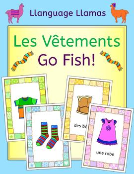 French Clothing - les vetements - Go Fish! Game