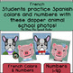 French Color By Number Back To School Picture Day Animals!