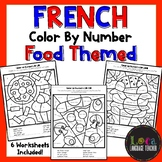 French Color By Number Food Themed