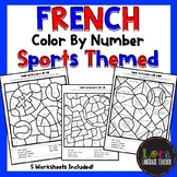 French Color By Number Sports Themed