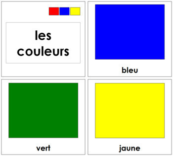 French - Color Cards (Large)