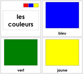 French Color Cards - Les cartes de couleur