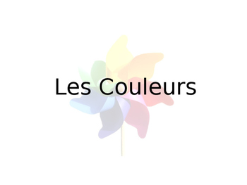 French Color Guided Notes