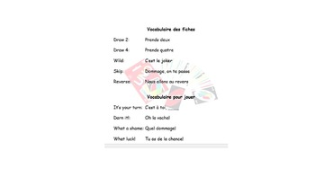 French Color Practices and Worksheet