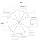 French Color Wheel Worksheet