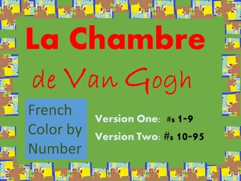 French Color by Number - Bedroom in Arles Van Gogh by GeographiCool