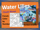 French Color by Number - Water Lilies by Monet