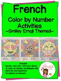French Color by Numbers  Emoji Themed