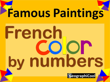 French Color by Number Famous Paintings Bundle