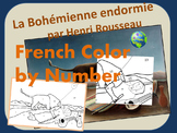 French Color by Number - The Sleeping Gypsy