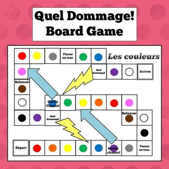 French Colors Board Game - Quel dommage!