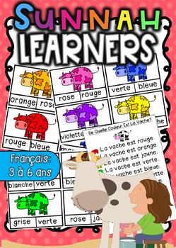 (super discount) French Colors Cow Clip Cards (Cartes à Clip)
