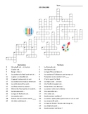 French - Colors Crossword