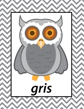 French Colors Printable Owls