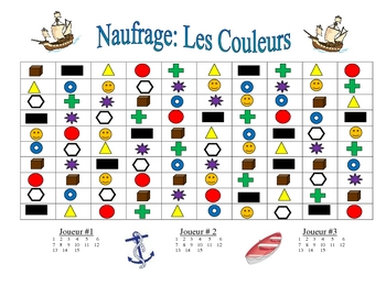French Colors Speaking/Writing  Activity (Naufrage)