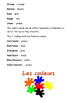 French Colors Word Search