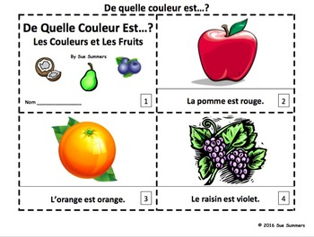 French Colors and Fruit 2 Booklets - De Quelle Couleur Est...?