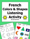 French Colors and Shapes Listening Activity - Les Couleurs
