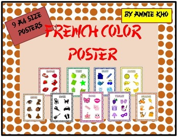 French Colors Posters