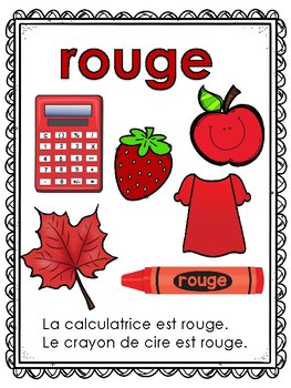 Les Couleurs French Colors Powerpoint and Anchor Charts Ontario Core French