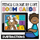 French Colour by Code: Soustractions   Distance Learning