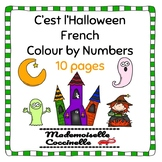French Colour by Number - Halloween