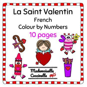 French Colour by Number - Valentine's Day (Le Jour de la Saint Valentin)