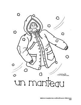 French Colouring Fun: Winter