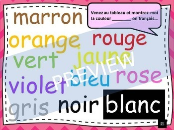 French, Colours: Presentation
