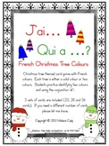French Colours (Colors) Oral Vocabulary Game (Christmas Tree theme)