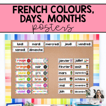 French Colours, Days and Months Cards