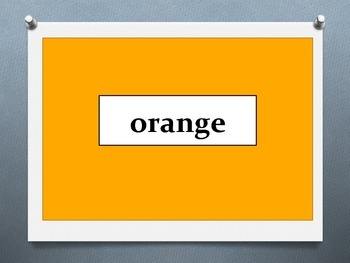 French Colours Flashcards