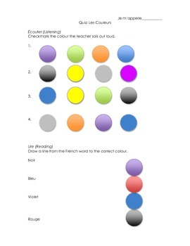 French Colours Quiz