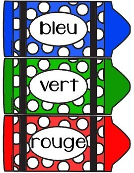 French Colours - Crayon Word Wall