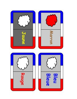 French-Colours dominoes game.