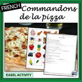 French – Commandons de la pizza – « Let's order pizza » Activities