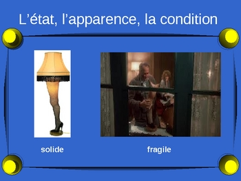 French - Comment decrire un objet - describing an object