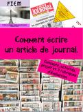 French: Comment écrire un article de journal, concepts, ac