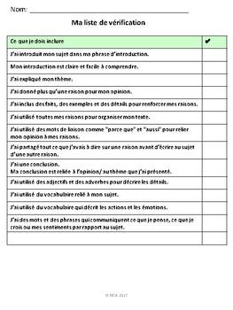 """French: """"Comment écrire un paragraphe"""" rubrique, graphic organizers, concepts"""