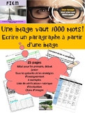 "French: ""Comment écrire un paragraphe"" rubrique, graphic organizers, concepts"