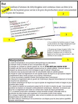 French: Comment écrire un rapport de laboratoire, concepts/activités/rubriques