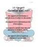 French: Comment écrire un rapport de lecture, concepts/activités/rubriques